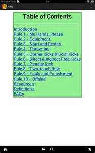 Youth Soccer Rules of Play