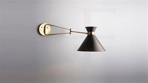 wall lampsayner black  antique brass swing arm wall