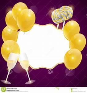 Image Champagne Anniversaire : carte d 39 anniversaire de vecteur avec des verres de champagne illustration de vecteur ~ Medecine-chirurgie-esthetiques.com Avis de Voitures
