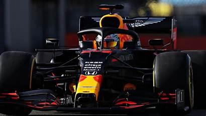 Bull F1 Track Debut Honda Verstappen
