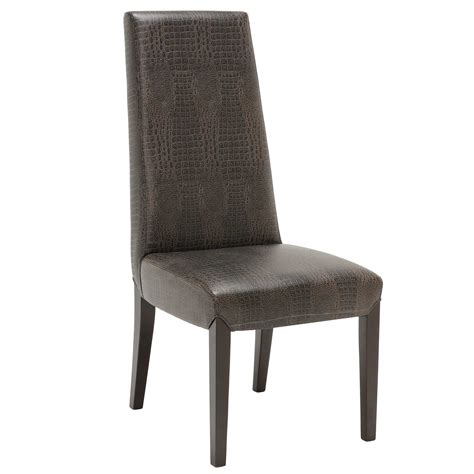 leather dining room chair the galicia leather dining chair leather dining chairs