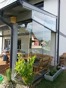 windschutz fur terrasse transparent mit glasschiebeturen With glas windschutz für terrasse