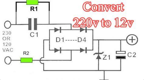 wiring diagram 12v transformer 220v ac to 12v dc converter circuit diagram 12v transformer less power supply youtube