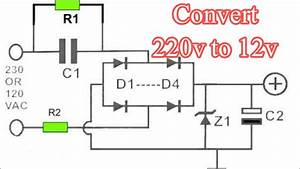220v Ac To 12v Dc Converter Circuit Diagram 12v Transformer Less Power Supply