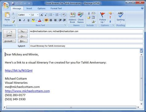 What To Put In An Email When Sending A Resume by Sending Emails From Your Clients Itineraries Visual Itineraries