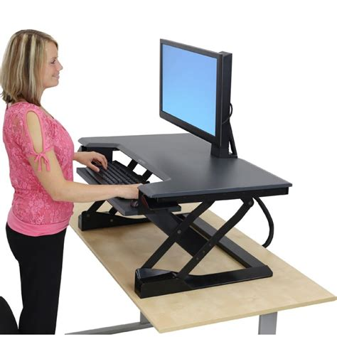 adjustable sit stand desk imovr omega denali stand up desk review sit stand desk