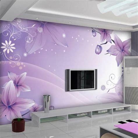 Preço para 1 M ², Lily de rosa azul mural 3d