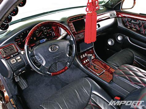 lexus ls430 interior 2001 lexus ls430 import tuner magazine
