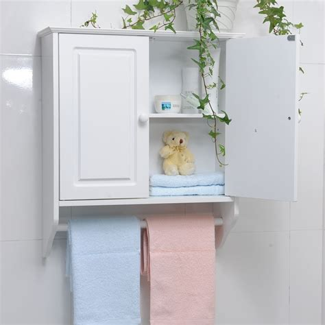 cheap bathroom wall cabinet with towel bar decor