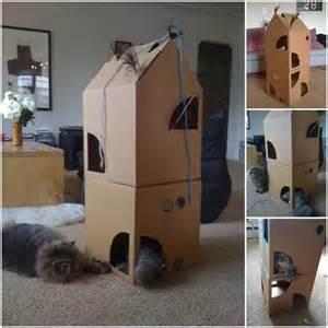 diy cardboard cat house 1000 ideas about cardboard cat house on cat