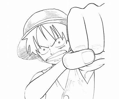 Luffy Monkey Piece Skill Coloring Pages Bw