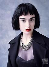 Red lipstick black hair