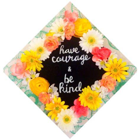 cinderella graduation cap  courage   kind