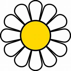 Yellow Daisy Clip Art at Clker.com - vector clip art ...