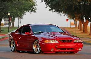 #red #sn95 #ford #mustang #cobra #bagged   Muscle cars mustang, Mustang cobra, Sn95 mustang