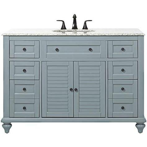 Hamilton Vanity Traditional Bathroom Vanity Hamilton 49 Quot W Shutter Bath Vanity Sea Glass Cabinet With