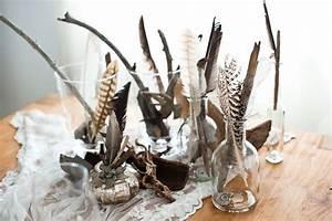 Silberne Deko Vasen : 39 tischdeko made by frl k 39 nr 1 edel mit federn holz und silber fr ulein k sagt ja ~ Indierocktalk.com Haus und Dekorationen