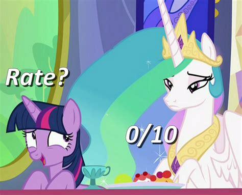 Princess Celestia Meme - more like rainbow trash episode spoilers fimfiction