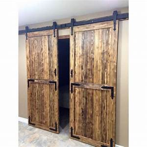 winsoon 4 18ft sliding barn door hardware double single With 4 foot sliding barn door hardware