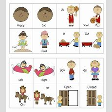 Ourhomecreations Free Printable Everyday Opposites Flashcards  Mt Children Opposites