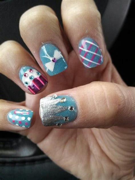 birthday themed nail arts pretty designs