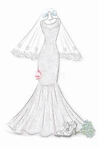Mermaid Wedding Dress Sketches | www.pixshark.com - Images ...