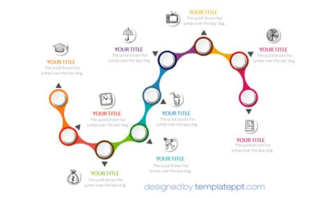 snake timeline diagram  powerpoint sinuous