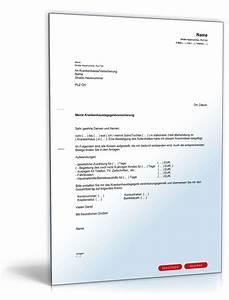 Rechnung Bei Krankenkasse Einreichen : antrag auf erstattung von krankenhaustagegeld vorlage ~ Themetempest.com Abrechnung