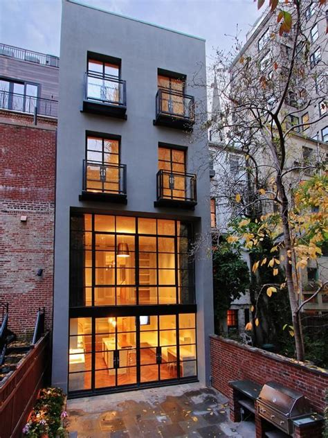exterior    story house   york city   upper east side open floor plan lots
