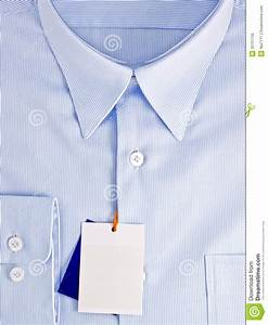 new blue shirt with blank label royalty free stock image With blank label shirts