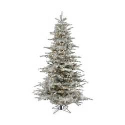 shop vickerman 12 ft pre lit flocked artificial tree with warm white led lights at