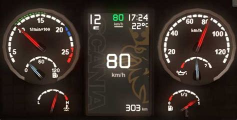 scania griffin custom dashboard  ets mods euro