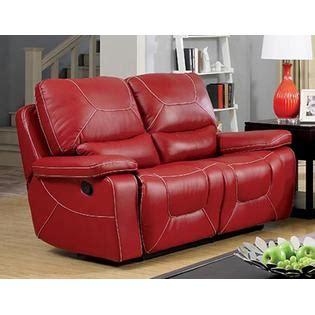 sears loveseat furniture of america burgen bonded leather reclining loveseat