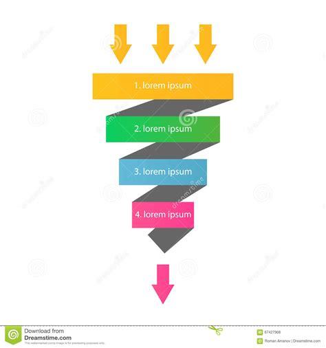 Datum Flow V Proces Flow Diagram verkaufstrichter auch im corel abgehobenen betrag stock