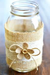 diy table number holders jar centerpieces with burlap lace