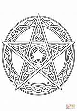 Wiccan Coloring Pentagram Pentacle Pages Drawing Wicca Witch Tattoo Pagan Printable Symbols Mandala Adult Celtic Supercoloring Celestial Drawings Goddess Colouring sketch template