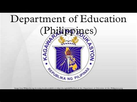 department  education philippines youtube