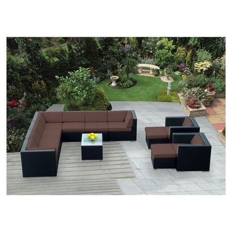 cool modern outdoor furniture cushions on backyard garden