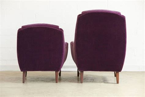 pair of adrian pearsall his and hers lounge chairs and