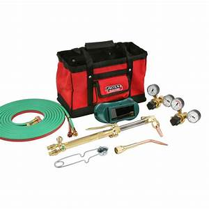 Lincoln Electric Cut Welder Kit With Torch  Oxygen And Acetylene Regulators  3  16 In  X 12 Ft