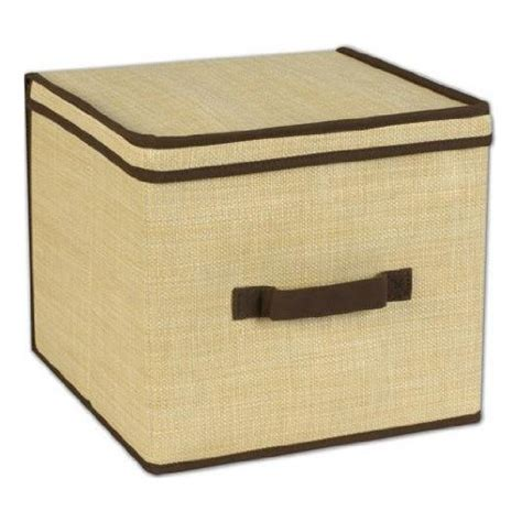 wicker storage bin with lid medium in clothing storage boxes