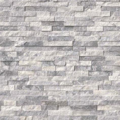 ledgestone alaska stacked stone tile gray grey bathroom kitchen 3d
