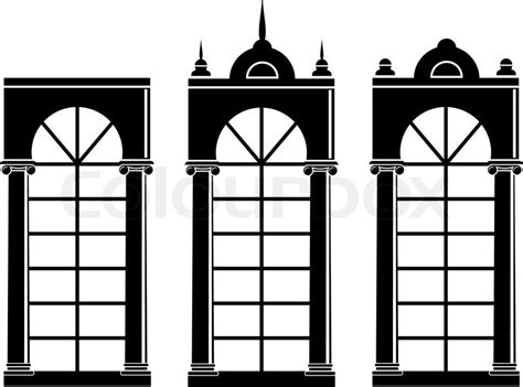 vector illustration  architectural element silhouettes