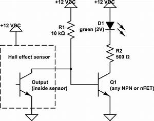 turn off led with hall effect sensor electrical With hall effect circuit
