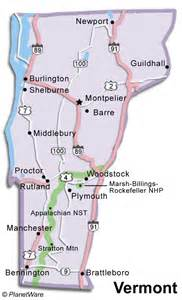 Vermont Mountains Map
