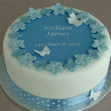 Cake Decoration Ideas For Boy by Personalised Boys Christening Cake Decorating Kit By