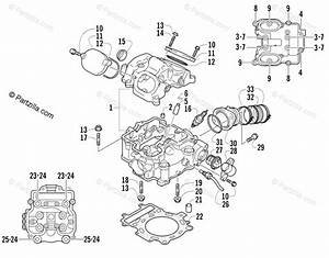 Arctic Cat Atv 2003 Oem Parts Diagram For Cylinder Head