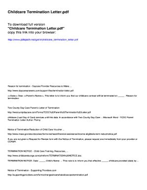 contract termination letter sample pdf Forms and Templates - Fillable & Printable Samples for