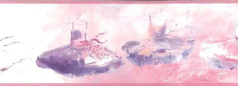 ballet wallpaper border girls pink purple ykb
