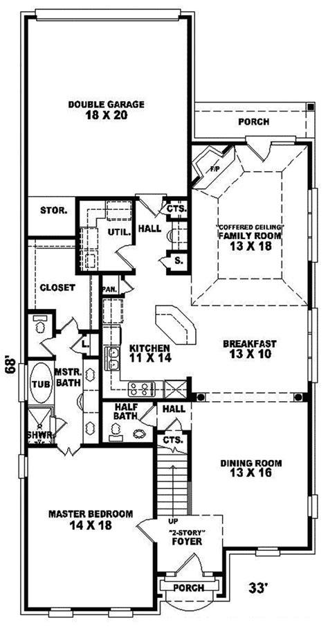 konica narrow lot home plan   house plans